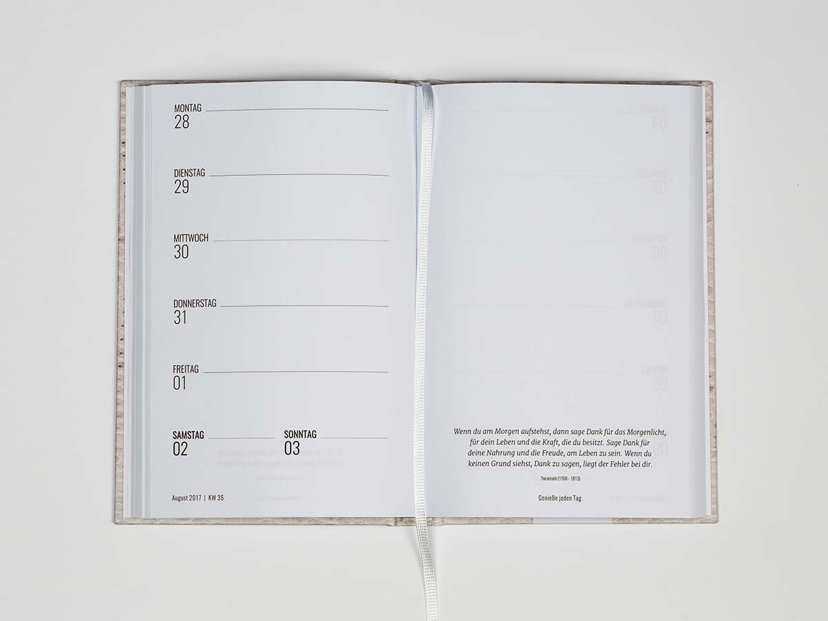 kalender classic personalisierte notizb cher eins wie keins. Black Bedroom Furniture Sets. Home Design Ideas